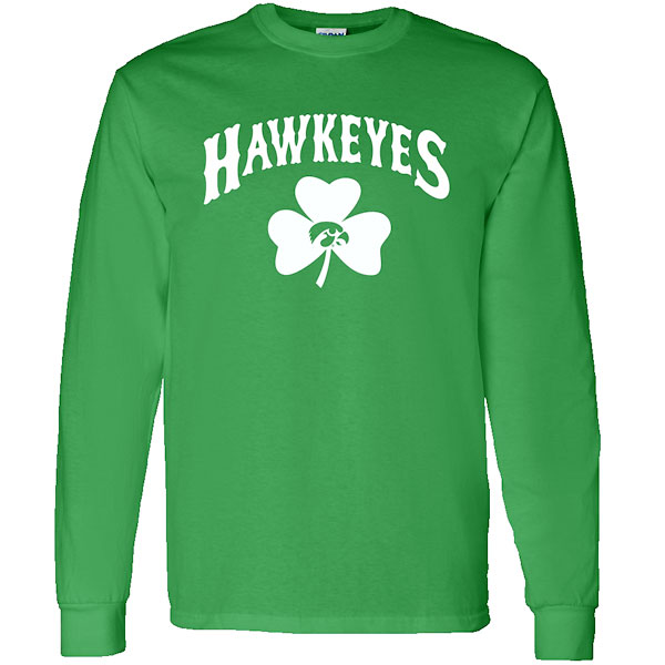 Iowa Hawkeyes Shamrock Over Tigerhawk Tee