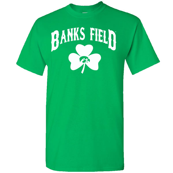 Iowa Hawkeyes Baseball Banks Field Shamrock Tee