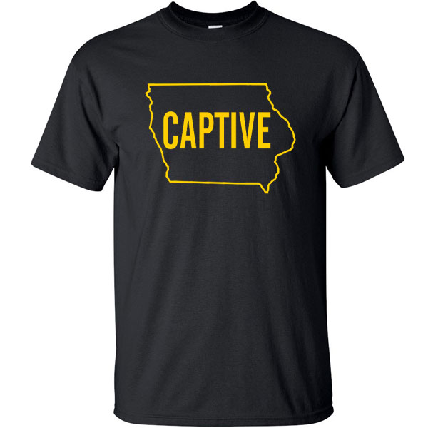 Iowa Hawkeyes Captive in State Tee