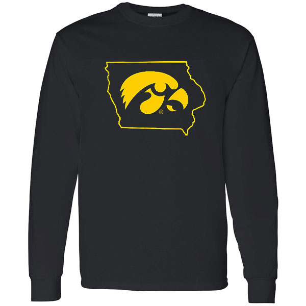 Iowa Hawkeyes Hawkhead in State Tee