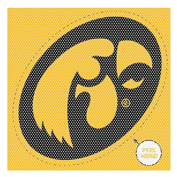 Iowa Hawkeyes Perforated Decal
