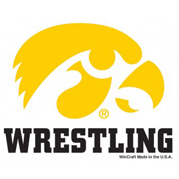 Iowa Hawkeyes Wrestling Decal