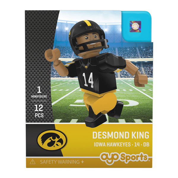 Iowa Hawkeyes Desmond King Figure