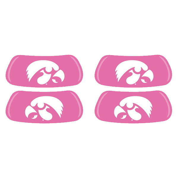 Iowa Hawkeyes Logo Eye Black - Pink (2 Pack)