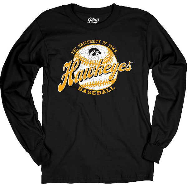 Iowa Hawkeyes Baseball Flash Dance Tee - Long Sleeve