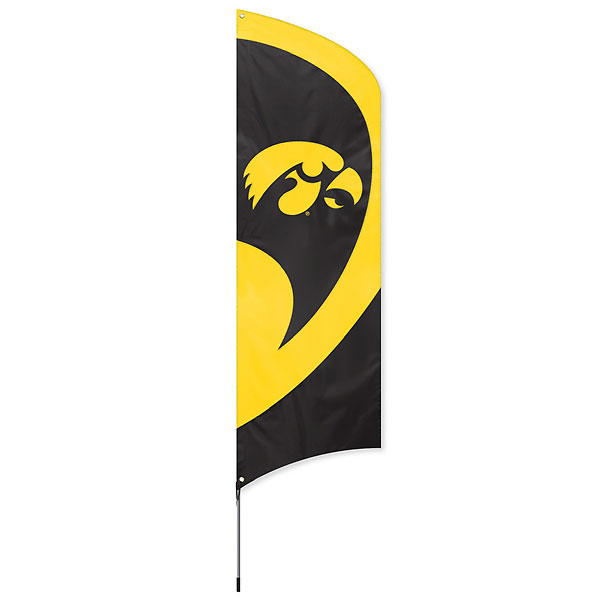 Iowa Hawkeyes Tall Team Flag Kit