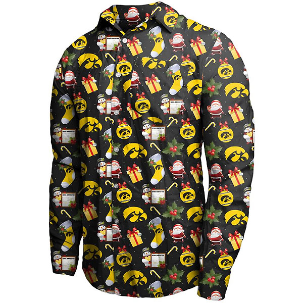 Iowa Hawkeyes Holiday Floral Shirt