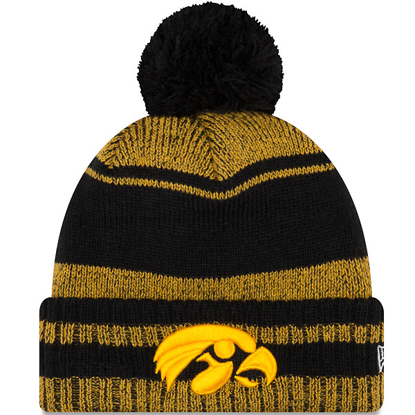 Iowa Hawkeyes Glacial Pom Knit Hat