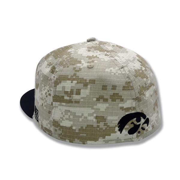 Iowa Hawkeyes Baseball Camo Stretch Hat (On The Field Hat)