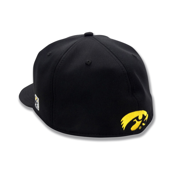 "Iowa Hawkeyes ""I"" Black Fitted Cap"