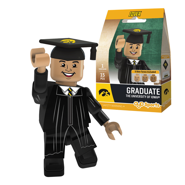 Iowa Hawkeyes Graduate Boy Figure