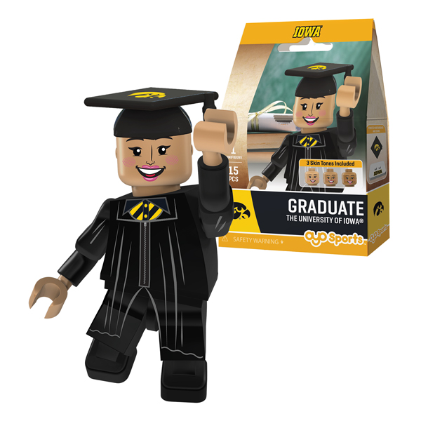 Iowa Hawkeyes Graduate Girl Figure