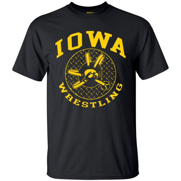 Iowa Hawkeyes Wrestling Headgear Tee - Short Sleeve