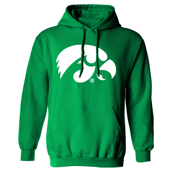 Iowa Hawkeyes Irish Green Hoodie
