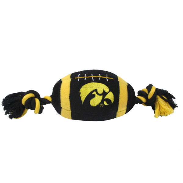 Iowa Hawkeyes Plush Football Pet Toy