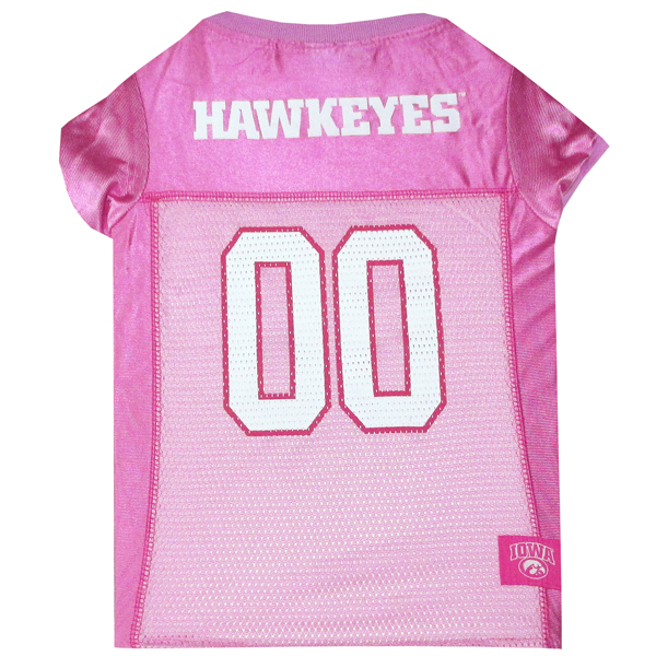 Iowa Hawkeyes Pink Pet Jersey