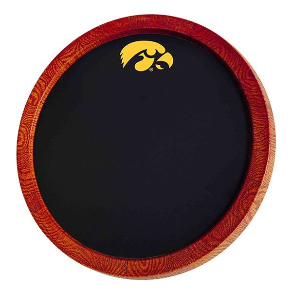 Iowa Hawkeyes Barrel Chalkboard