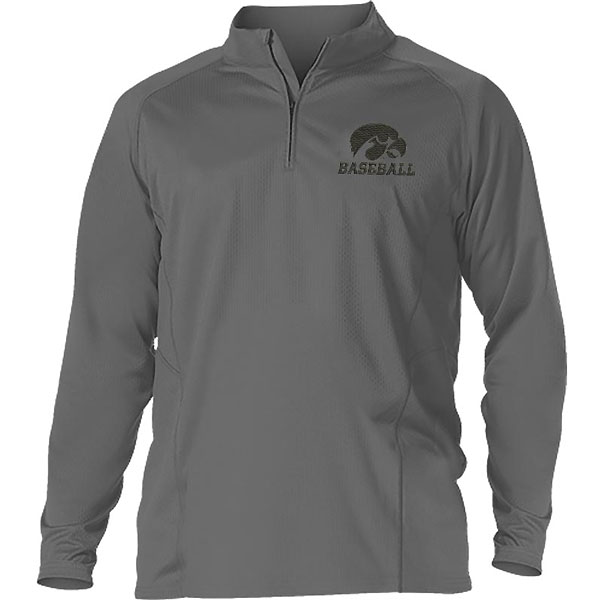Iowa Hawkeyes Baseball Heather Gameday 1/4 Zip Jacket