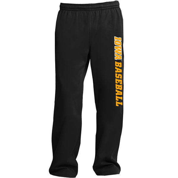 Iowa Hawkeyes Baseball SportWick Fleece Pants