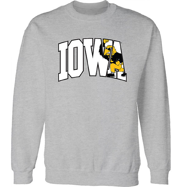 Iowa Hawkeyes Arch Herky Crew Sweat