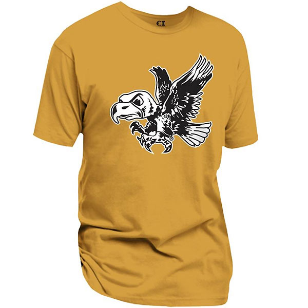 Iowa Hawkeye Ginger Old Gold Tee
