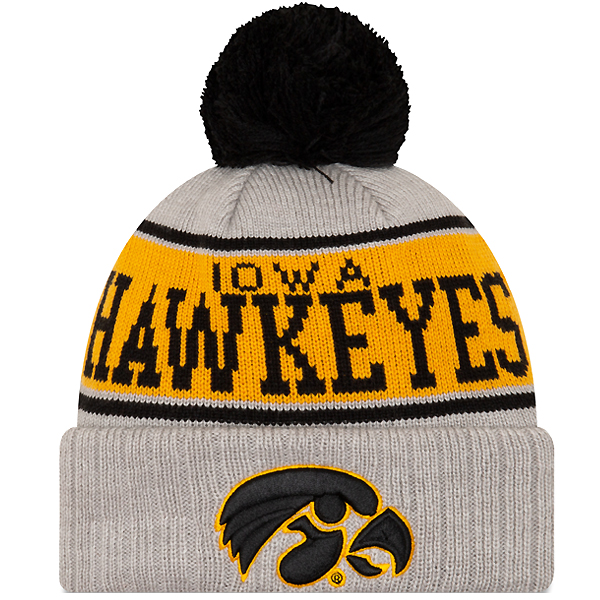 Iowa Hawkeyes Stripe Knit Hat