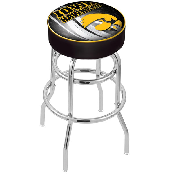 Iowa Hawkeyes Swivel Bar Stool
