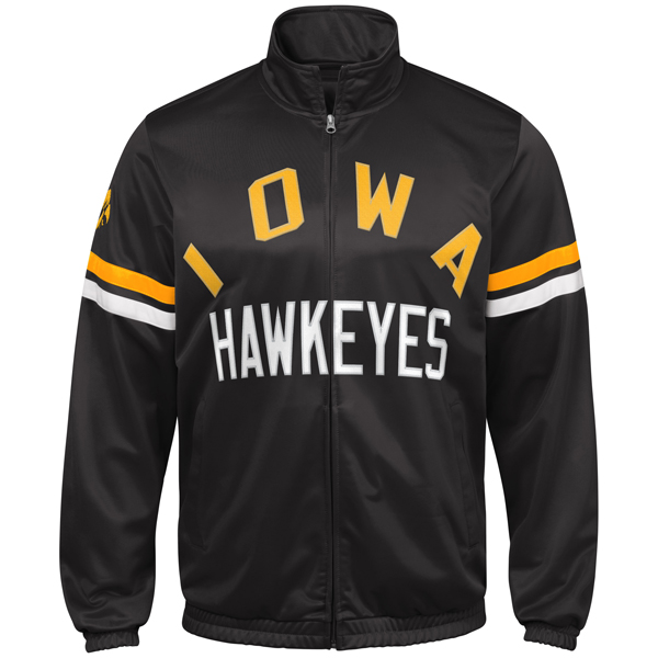 Iowa Hawkeyes Veteran Track Jacket