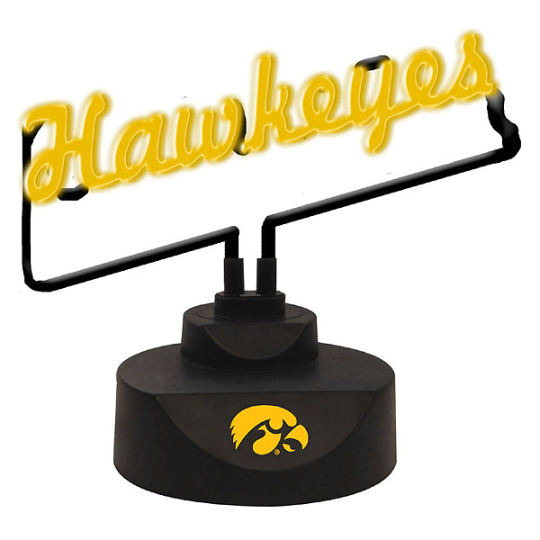 Iowa Hawkeyes Script Neon Desk Lamp