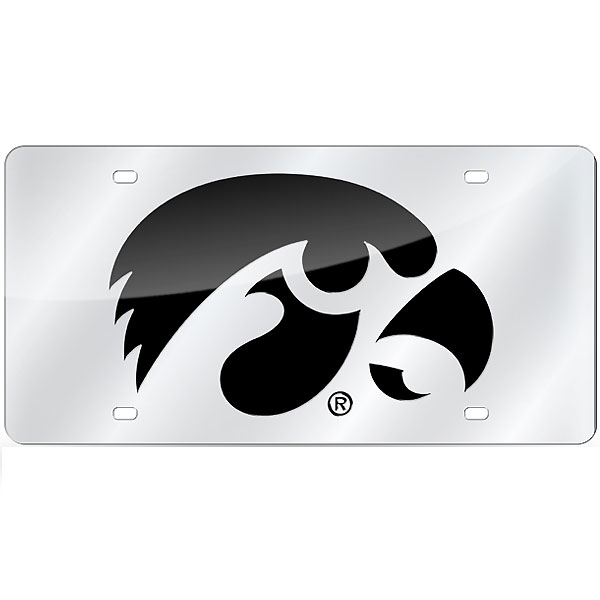 Iowa Hawkeyes Laser Cut Silver Tag