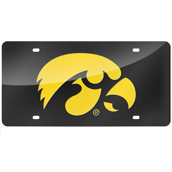 Iowa Hawkeyes Laser Cut Gold Tag