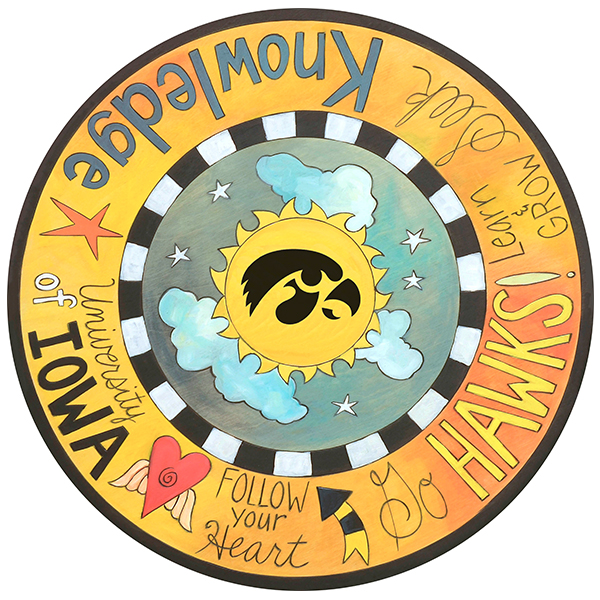 Iowa Hawkeyes Lazy Susan Plaque
