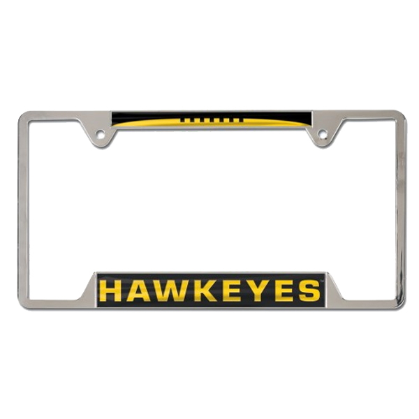 Iowa Hawkeyes Metal License Plate Frame