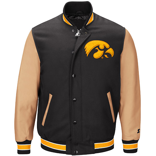 Iowa Hawkeyes Letterman Wool Jacket