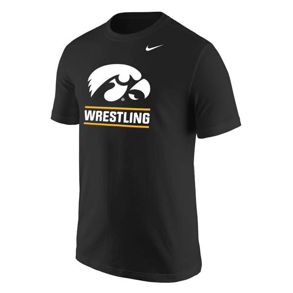 Iowa Hawkeyes Wrestling Logo Core Tee
