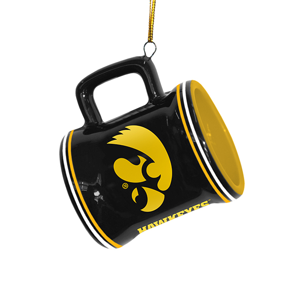 Iowa Hawkeyes Mini Mug Ornament