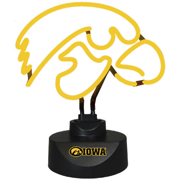 Iowa Hawkeyes Logo Neon Lamp