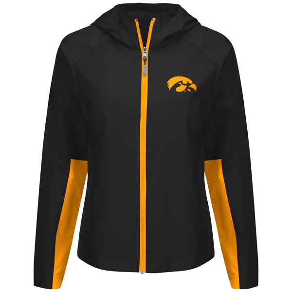 Iowa Hawkeyes Women's Full Zip Light Weight Jacket