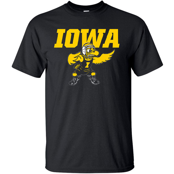 Iowa Hawkeyes Wrestling Old Herky Tee