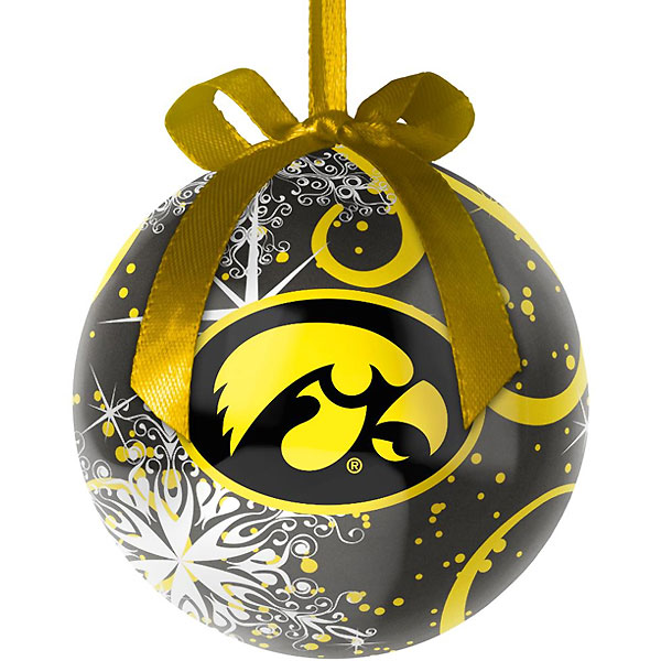 Iowa Hawkeyes Decopage Ornament