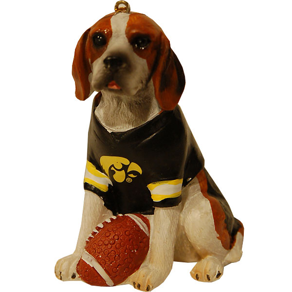 Iowa Hawkeyes Beagle Ornament