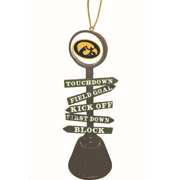 Iowa Hawkeyes Fan Crossing Ornament