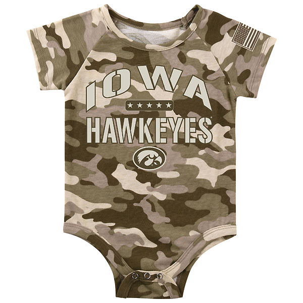 Iowa Hawkeyes Infant Camo Onsie
