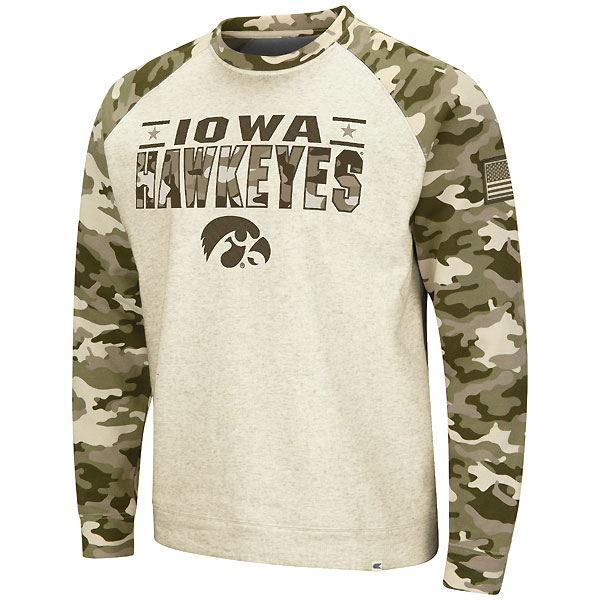 Iowa Hawkeyes Raglan Crewneck Sweat