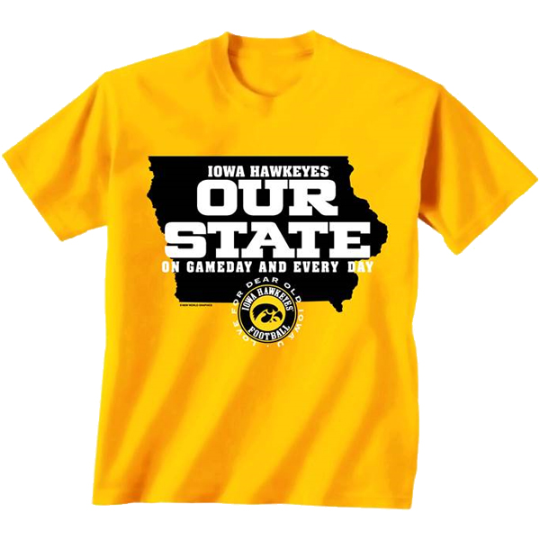 Iowa Hawkeyes Our State Tee
