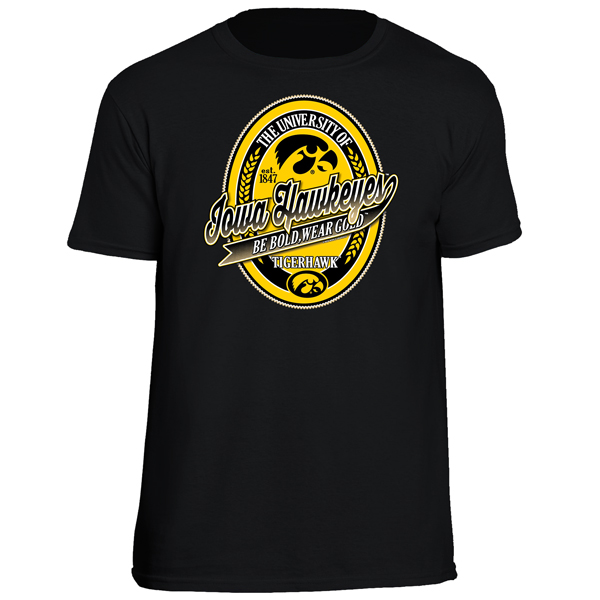 Iowa Hawkeyes Oval Label Tee