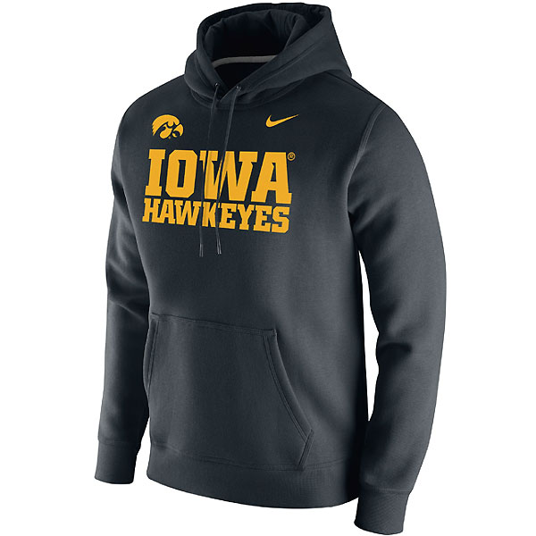 Iowa Hawkeyes Club Logo Fleece Hoodie