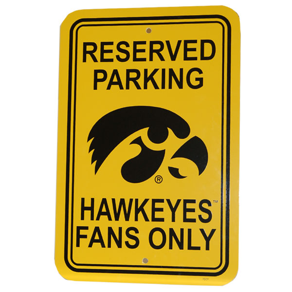 Iowa Hawkeyes Parking Sign