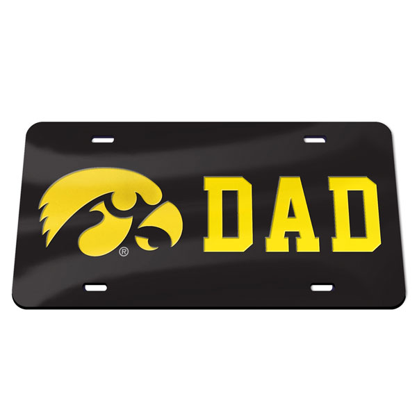 Iowa Hawkeyes Dad Plate