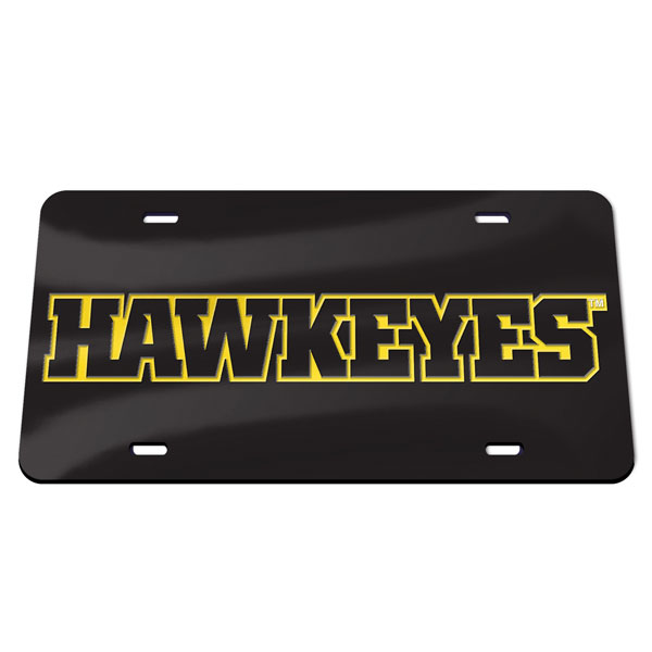 Iowa Hawkeyes Word Logo Plate